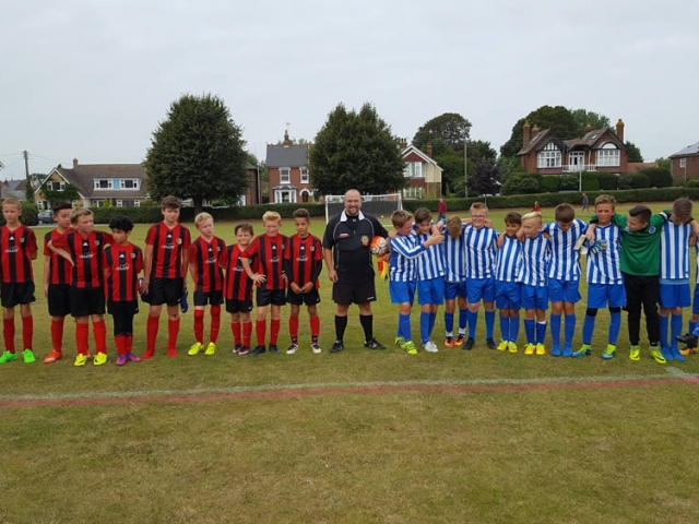 An image showing a Colchester and District Youth League match between Brightlingsea and Tiptree Youth Sides